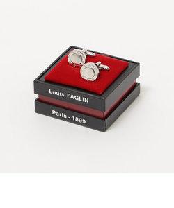 LOUIS FAGLIN: シルバー 8ビス カフリンクス(ホワイト)