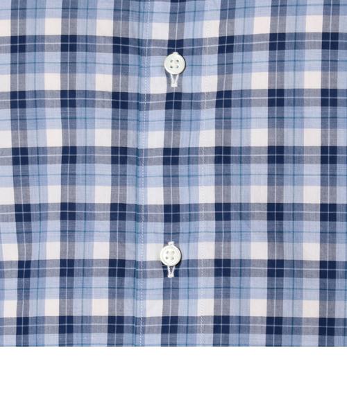 SD: 【ウォッシュド】 タータンチェック ホリゾンタルカラー シャツ