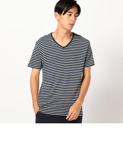 SHIPS×ott-tricot: Vネック Tシャツ