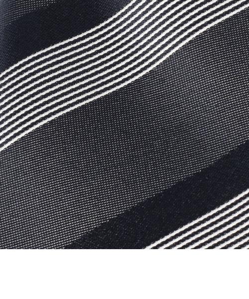 SD: サテン ワイド ストライプ ネクタイ