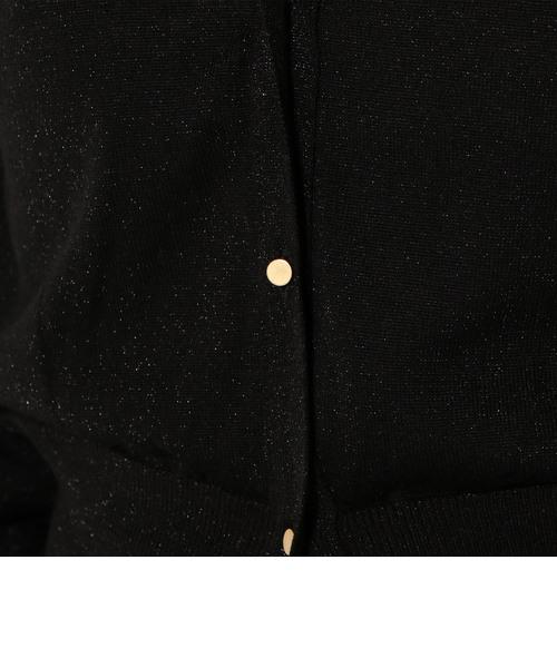 little black:ラメVネック羽織りカーディガン