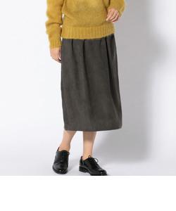 フェイクスエードコクーンスカート