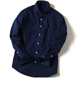 SC: ドビー織り ロンドンストライプ セミワイドカラー シャツ