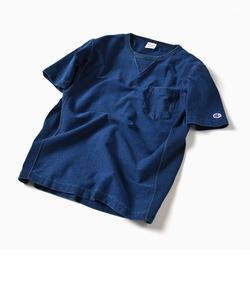 Champion×SHIPS: 別注 リバースウィーブ(R) インディゴ ジャージー ポケット Tシャツ