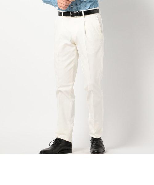 SD: 【ストレッチ】 コットン ドレスチノパンツ (ホワイト)