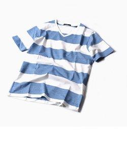 SC: MADE IN JAPAN ワイドボーダー Vネック Tシャツ