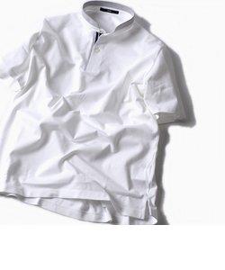 SC: コットン ドライ ミニ バンドカラー ポロシャツ