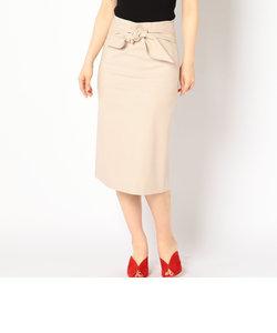 ソリッドウエストリボンタイトスカート
