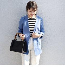 リネンレーヨン羽織りジャケット