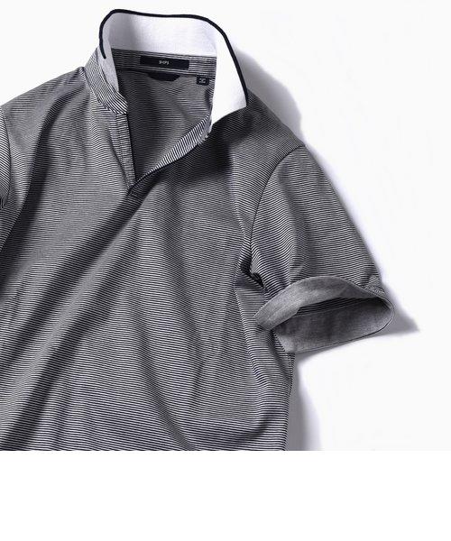 SC: リブ/スキッパー ショートスリーブ ポロシャツ