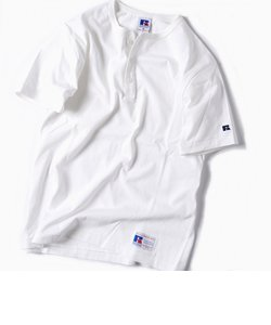 RUSSELL ATHLETIC×SHIPS: 別注 ユーズド加工 ヘンリーネック Tシャツ