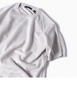 SC: 14ゲージ ランダム ボーダー ニット Tシャツ