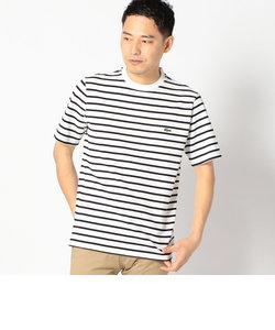 LACOSTE:【TH218E】ピケ ボーダー Tシャツ