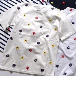 SU: フラワーエンブロイダリー Tシャツ