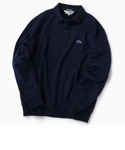 【Begin11月号掲載】LACOSTE: 別注 ビッグシルエット スウェット ロングスリーブ ポロシャツ (トレーナー)