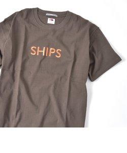 SC:【一部WEB限定カラー】SHIPSロゴ エンブロイダリー Tシャツ