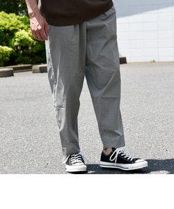 SU:【SOLOTEX(R)】リネン混 ワイドテーパード アンクル パンツ