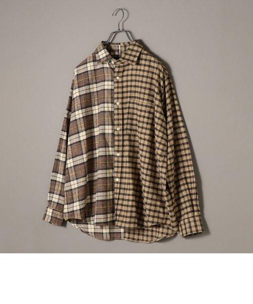 SU: ビッグシルエット クレイジー チェック ネルシャツ