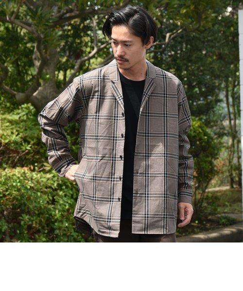 SU: ビッグシルエット オープンカラー シャツ ジャケット