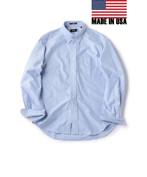 SHIPS×IKE BEHAR: アメリカ製 オックスフォード ボタンダウン シャツ