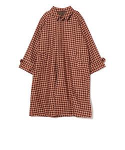 SU: ビッグシルエット MOON ステンカラー コート