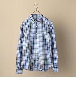 SC: コットン/リネン ギンガムチェック ボタンダウン シャツ