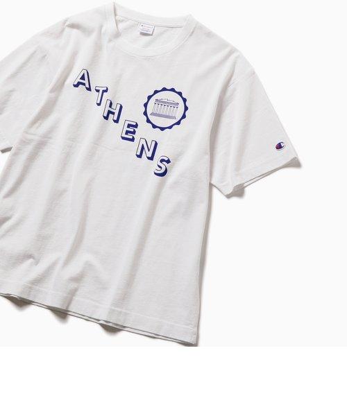 Champion×SHIPS: 別注 ウォッシュドコットン シティプリント Tシャツ(WEB限定)