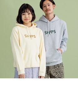 SU:【一部WEB限定カラー】SHIPS ロゴ ビッグシルエット エンブロイダリー パーカー(トレーナー)