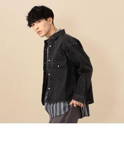 SU: デニム ショート シャツ ジャケット