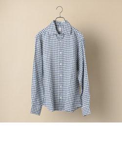 SD:【MONTI社製生地】 ウォッシュド リネン ギンガムチェック シャツ