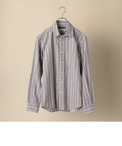 SC: Shuttle notes ストライプ レギュラーカラー ネルシャツ