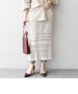 【WEB限定】透かしレイヤードスカート◇
