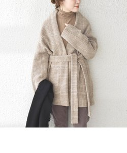 【WEB限定】【手洗い可能】エアリーチェックミディガウン◇