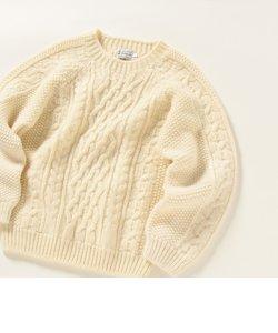 INVERALLAN: Authentic sportswear ケーブル クルーネック ニット