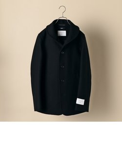 SHIPS: スーパー140'S 100%WOOL メルトン ショールカラー コート