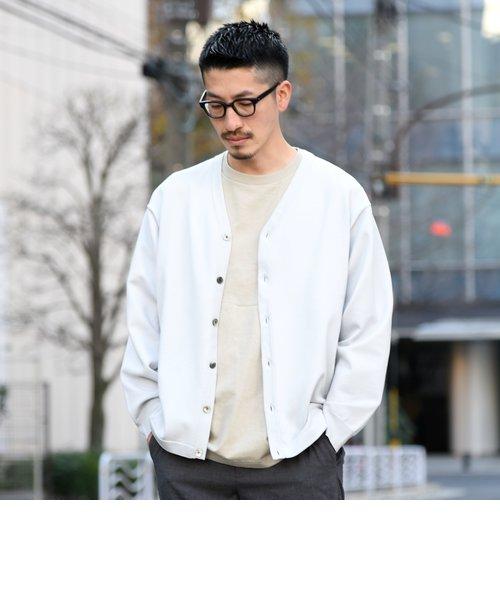 【WEB限定】SHIPS: 《洗えるニットとTシャツがセット》 レイヤード カーディガン (リラックスフィット)