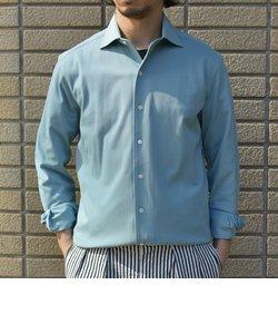 SHIPS:ALBINI ジャージー ソリッド イタリアン ワイドカラー シャツ