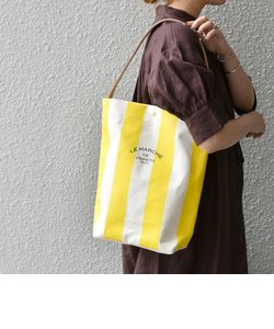 【SHIPS any別注】LE MARCHE DE VIMPET: ワイド ストライプ キャンバス トートバッグ