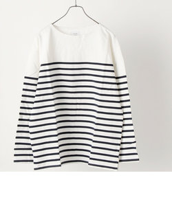 SHIPS any: STANDARD COTTON USA ボートネック ボーダー ロンT 2021◇
