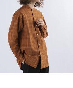 SHIPS any: ルーズフィット オーバーサイズ バンドカラー 長袖 シャツ◇
