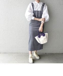SHIPS any:〈ウォッシャブル〉コーデュロイ Iライン ジャンパースカート