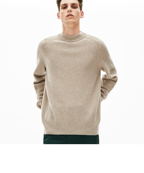 アルパカブレンドミニマルニットセーター