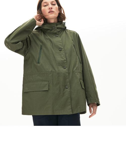 撥水ワイドフードジャケット