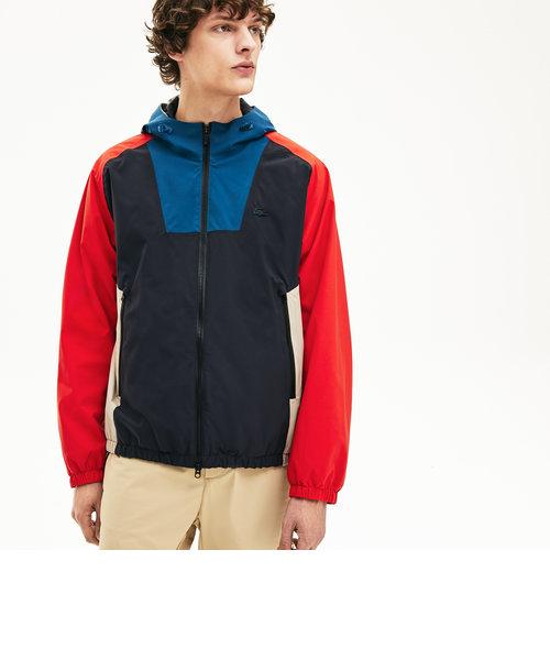カラーブロックジップジャケット