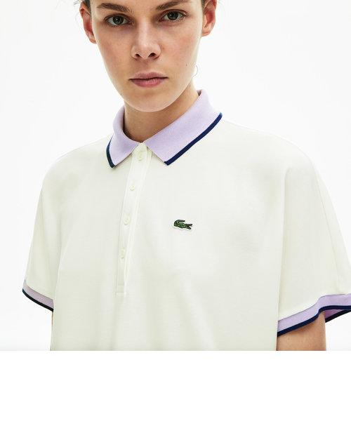 リラックスフィットコントラストラインポロシャツ(半袖)