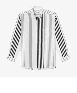 リラックスフィット コントラストストライプボタンダウンシャツ