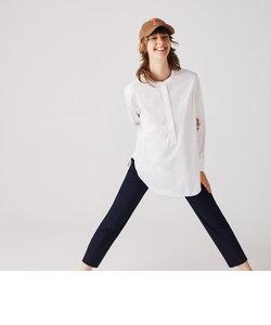 マオカラープルオーバーチュニックシャツ