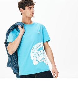 レギュラーフィット オーバーサイズワニプリントクルーネックTシャツ