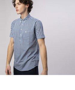 ギンガムチェック半袖ビジネスシャツ