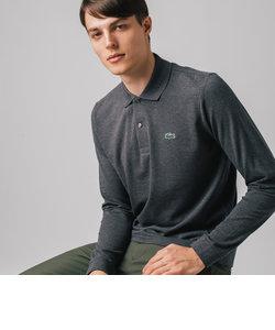 長袖 リブ カラ-ポロシャツ L1313 (杢・長袖)